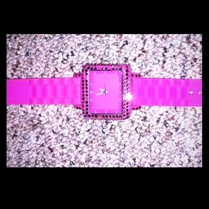Pink bling watch